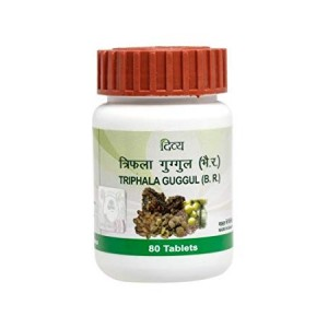 Divya Triphala Guggul (80 tabs) (For Weight Loss,Piles and Joints Pain)(FREE SHIPPING)